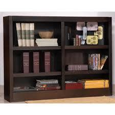 6 Shelf Bookshelf Concepts In Wood Double Wide 6 Shelf Bookcase 206543 Office