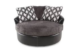 Oversized Swivel Accent Chair Oversized Microfiber 58 Swivel Accent Chair In Smoke Gray
