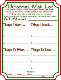 free printable wish list free printable free and holidays