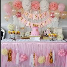 babyshower decorations qian s party baby pink gold white baby shower