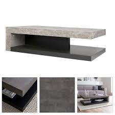 tisch wohnzimmer couchtisch detroit betongrau matt schwarz beistelltisch couch