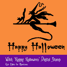 happy halloween word art in transparent background greetings and sentiments for halloween cards and crafts
