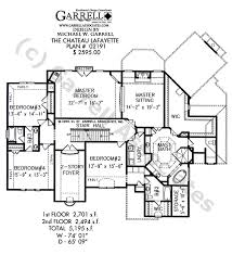 French Cottage Floor Plans Chateau Lafayette House Plan House Plans By Garrell Associates Inc