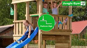 Backyard Jungle Gym by Jungle Gym Jungle Barn Features Youtube