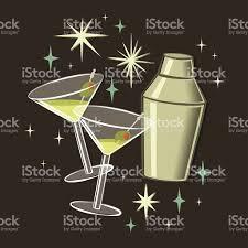 retro martini clip art retro 50s martini cocktail illustration stock vector art 457042987