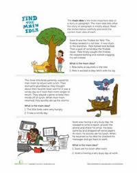 main idea of a story worksheet