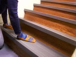 quick and easy diy non skid stair treads on home interior design
