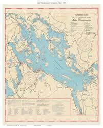 Navigation Map Lake Winnipesaukee 1966 67 Navigation Map Islands Coves