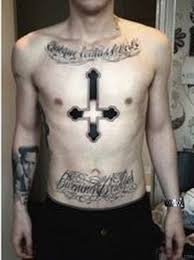 59 looking cross tattoos designs for chest