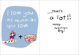 hockey valentines cards new canadian s day cards wendy tancock design