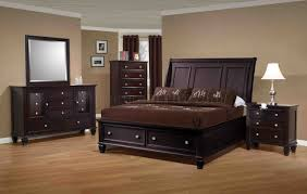 Transitional Bedroom Furniture by Cappuccino Finish Transitional Bedroom W Storage Bed U0026 Options