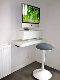 Computer Desks For Small Spaces by Desk A Day How To Make A Wall Mounted Computer Station Desk