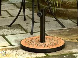 Patio Umbrella Stand by 23 Lb Terra Cotta Mosaic Patio Umbrella Stand Product Review