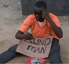 Lol Blind Lol Blind Man Looking At His Phone Daily Humor Pinterest