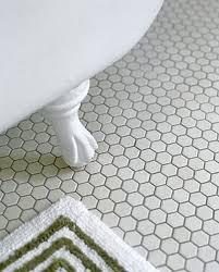 plain design white hexagon floor tile mosaic creative home