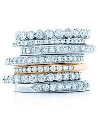 stackable diamond rings stacked engagement rings you ll martha stewart weddings