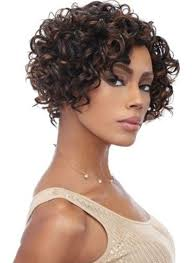 short curly 1b 30 hairstyle for african american women front