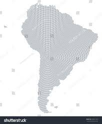 south america dot map south america map radial dot pattern stock vector 526911433