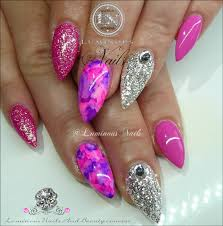 purple and gold nail designs