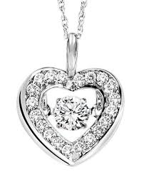 diamond heart necklace images 14k white gold rhythm of love diamond heart necklace best price jpg