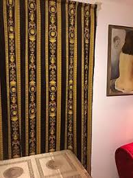 Curtains Blinds Versace Fabric Panel Curtains Blinds Medusa Baroque Material