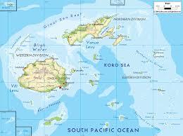 Oceania Map Physical Map Of Fiji Ezilon Maps