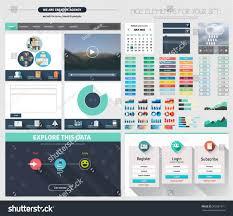 one page website flat ui design stock vector 205587871 shutterstock