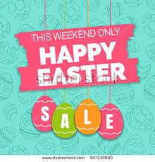 easter eggs sale easter egg hunt vector illustration colorful stock vector
