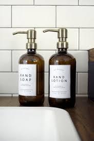 Modern Bathroom Soap Dispenser by Amber Glass Bottle Soap Dispenser With Metal Pump And Designer