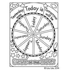 free days of the week wheel by lita lita teachers pay teachers