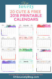 Printable Calendar December 2018 Your Free 2018 Printable Calendars Today There Are 28 Designs To