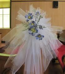 wedding bows tulle pew bows church wedding decorations