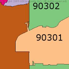 map of inglewood california inglewood california zip code boundary map ca