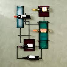 mounted rectangular black iron wine racks having black metal wine