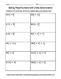 adding and subtracting mixed numbers worksheets math and