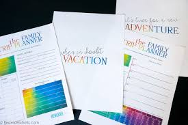 remodelaholic get planning free family vacation printable pack