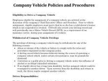 company policies template free resume