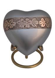 heart urn wildflowers design heart keepsake urn