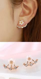 pretty earrings flower earrings piercings jewerly and jewlery