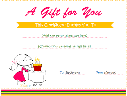 birthday gift certificate templates for and boys