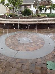backyard splash pad and pavers yard u0026 garden pinterest