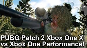 pubg xbox one x performance pubg xbox one x vs xbox one patch 2 frame rate test youtube