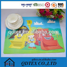 large plastic table mats exporting cartoon cars kids plastic pp placemats large table mats
