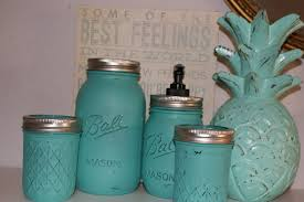 bathroom set ball mason jars handmade gifts home decor