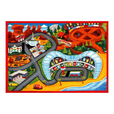 Cars Area Rug Disney Cars Multi Color 4 Ft 6 In X 6 Ft 6 In Indoor Juvenile