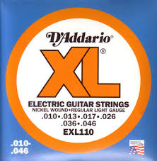 light electric guitar strings d addario xl 10 46 regular light electric guitar strings