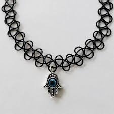 hamsa evil eye tattoo choker static sound online store powered