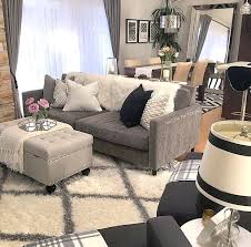 chic living room furniture lamp shade fluffy rug and colour