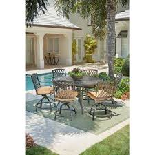 High Patio Table Bar Height Dining Sets Outdoor Bar Furniture The Home Depot