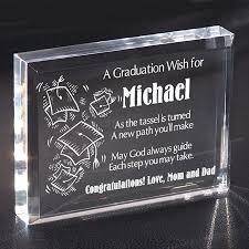 personalized keepsakes graduation glass block graduation gifts personalized